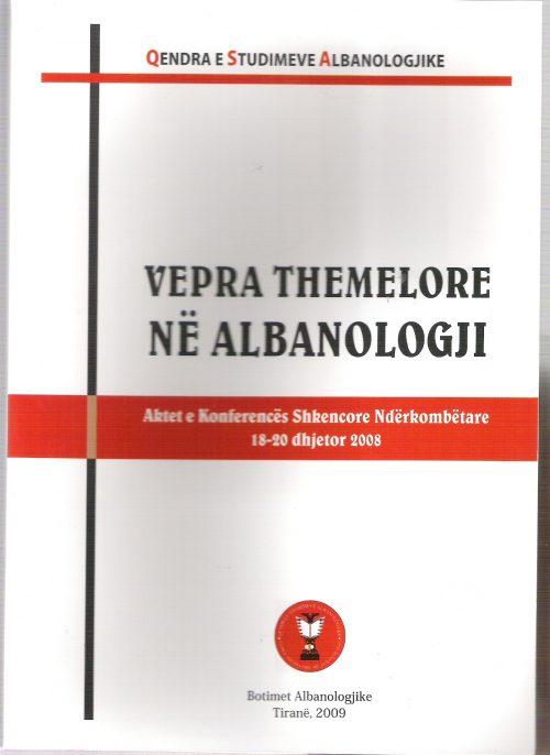 Vepra themelore ne Albanologji