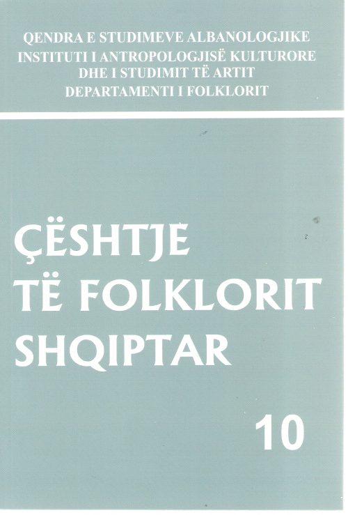 Ceshtje te folklorit shqiptar