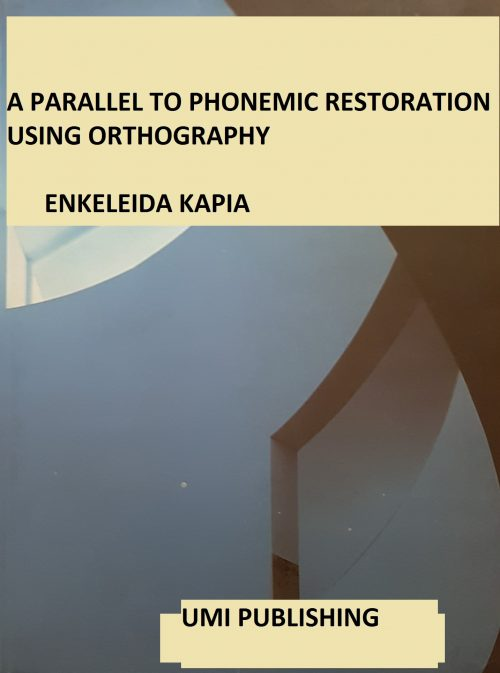 A parallel to phonemic restoration using orthography