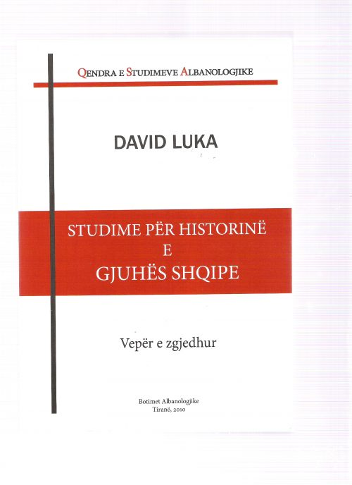Studime për historinë e gjuhës shqipe