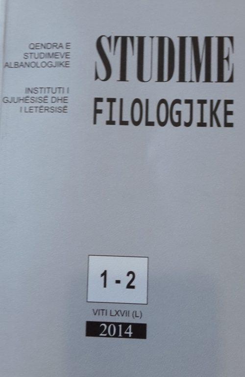 Studime filologjike 1-2