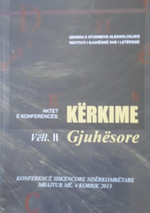Kërkime gjuhësore (Vëllimi II)