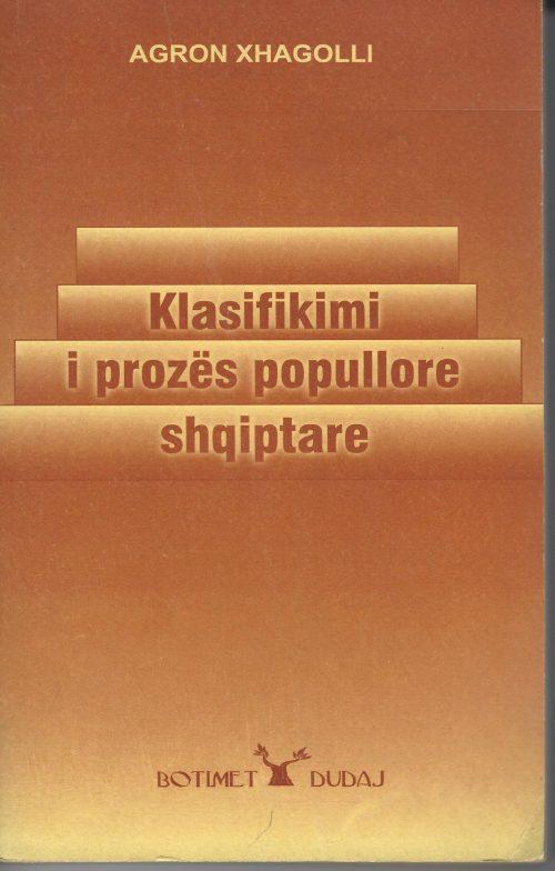 Klasifikimi i prozës popullore shqiptare