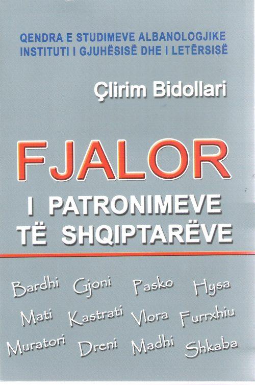 Fjalor i patronimave te shqiptareve