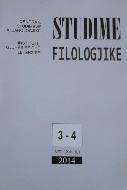 Studime filologjike 3-4