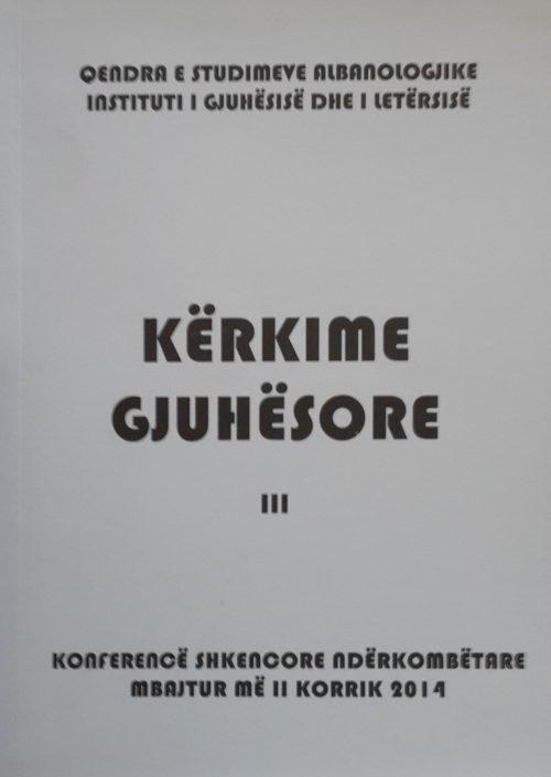 Kërkime gjuhësore (Vëllimi III)