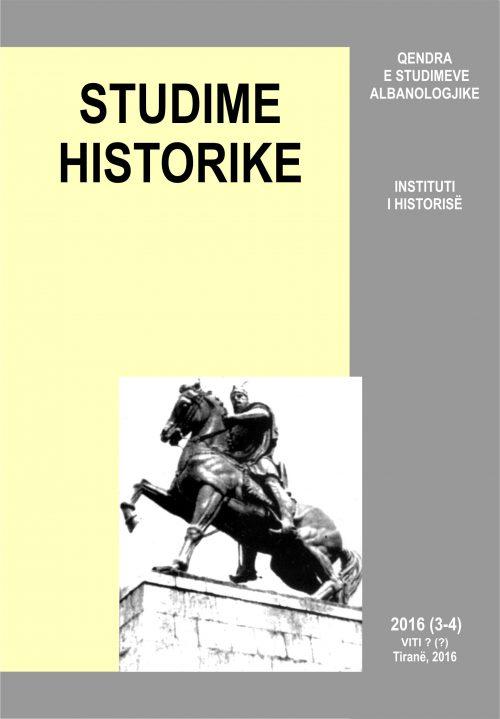 STUDIME HISTORIKE 3-4, 2016 – kopertina